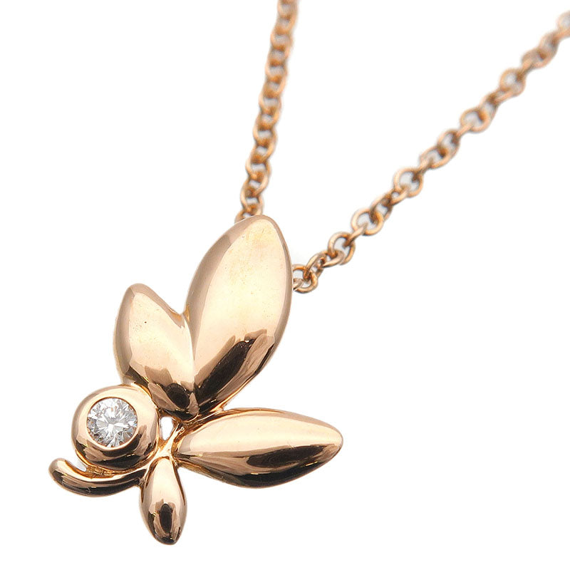 Tiffany&Co.-Olive-Leaf-1P-Diamond-Necklace-K18-750-Rose-Gold