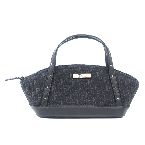 Christian Dior Trotter Canvas Leather Small Mini Bag Black