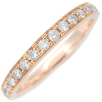 4℃ Half Eternity Diamond Ring K18 Rose Gold US4-4.5 EU47