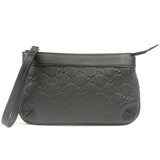 GUCCI Guccissima Leather Pouch Bag Black 274181