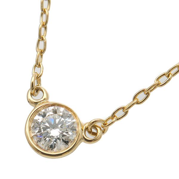 Tiffany&Co. By the Yard 1P Diamond Necklace 0.12ct Yellow Gold