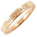 Tiffany&Co. Flat Band Ring K18 Rose Gold US9-9.5 HK21 EU60.5