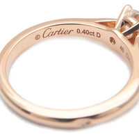 Cartier Solitaire 1895 Diamond Ring 0.40ct Rose Gold #46 US3.5-4