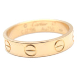 Cartier Mini Love Ring Yellow Gold #47 US4-4.5 HK9 EU47-47.5