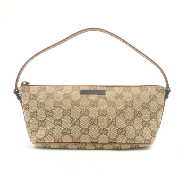 GUCCI-GG-Canvas-Leather-Purse-Pouch-Beige-Brown-07198