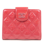 CHANEL-Matelasse-Patent-Leather-Bi-Fold-Wallet-Pink-20692938
