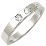 Cartier-Engraved-1P-Diamond-Ring-Platinum-#52-US6-6.5-EU52