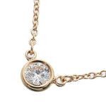 Tiffany&Co.-By-the-Yard-1P-Diamond-Necklace-0.14ct-K18-Yellow-Gold