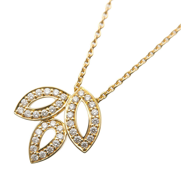 HARRY-WINSTON-Lily-Cluster-Mini-Diamond-Necklace-Yellow-Gold