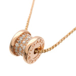 BVLGARI-B-zero1-Mini-Pave-Diamond-Necklace-K18-750-Rose-Gold