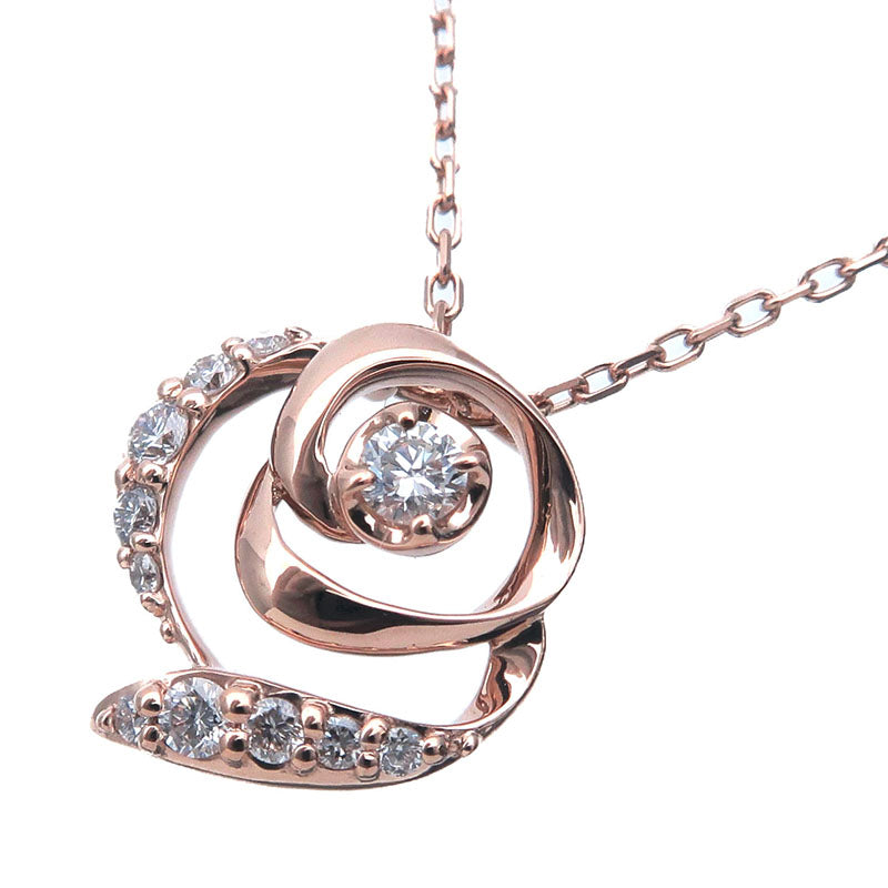 VENDOME-AOYAMA-Diamond-Necklace-0.10ct-K18-Rose-Gold