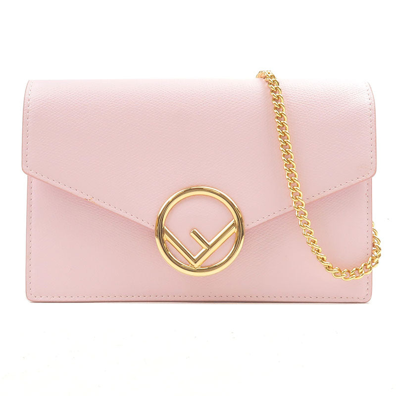 FENDI-F-is-FENDI-Leather-Chain-Wallet-Pink-8BS006