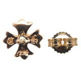 Chrome Hearts CH Plus 1P Diamond Stud Earring 22K Gold-dct-ep_vintage luxury Store