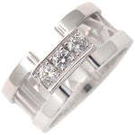 Tiffany&Co. Atlas Open 3P Diamond Ring White Gold US5 HK11 EU50