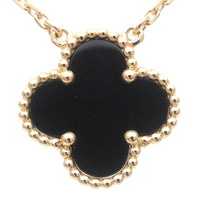 Van Cleef & Arpels VCA Vintage Alhambra Necklace Yellow Gold Onyx-dct-ep_vintage luxury Store