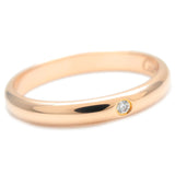 Cartier Wedding Ring 1P Diamond Rose Gold #48 US4.5 EU48