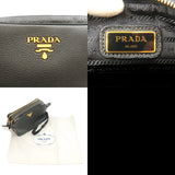 PRADA Vitello Phenix Leather Shoulder Bag Black 1BH079
