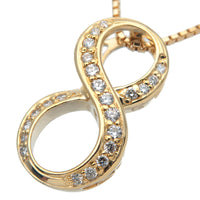 "NOMBRE ALPHA Number ""8"" Diamond Necklace 0.19ct Yellow Gold"