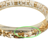 Louis Vuitton Bracelet Inclusion TPM Bangle Clear Gold M65867