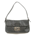 FENDI-Leather-Mamma-Baguette-Shoulder-Bag-Black