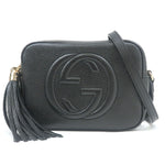 GUCCI-SOHO-Leather-Shoulder-Bag-Black-308364