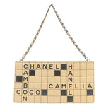 CHANEL-Lamb-Skin-Chocolate-Bar-Pouch-Hand-Bag-Beige