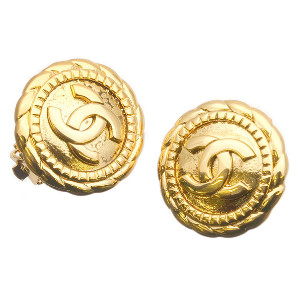 CHANEL-Coco-Mark-Vintage-Earrings-Gold