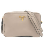 PRADA-Leather-Shoulder-Bag-Purse-ARGILLA-Gray-1BH079