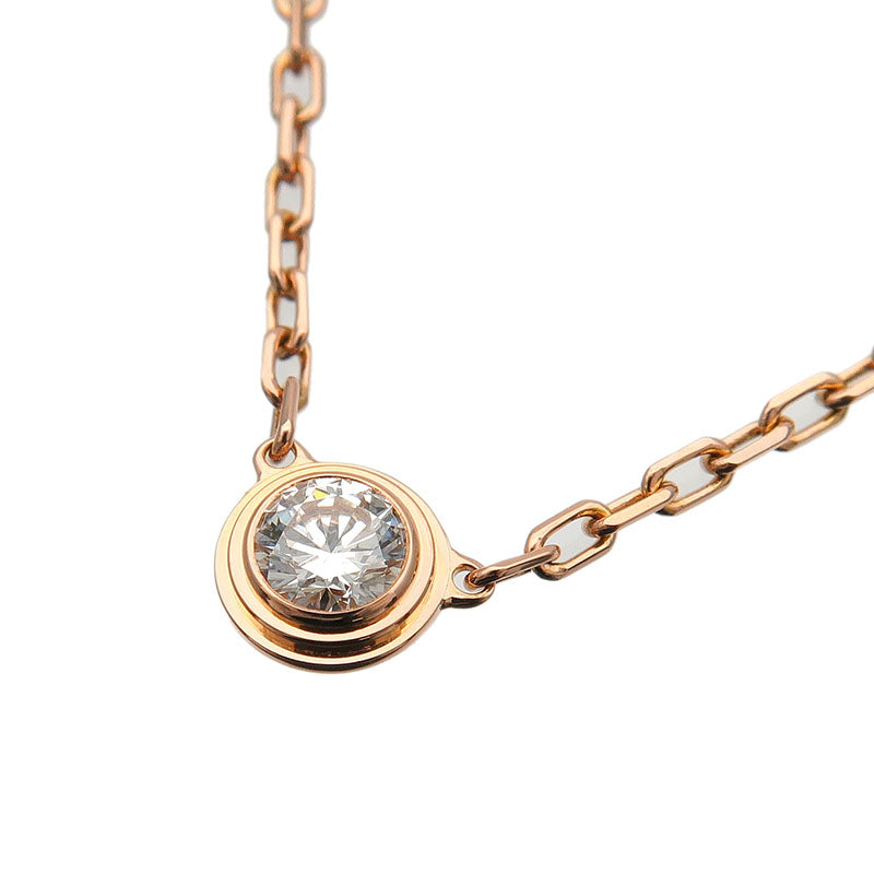 Cartier-Diamants-Légers-Necklace-SM-1P-Diamond-0.09ct-Rose-Gold