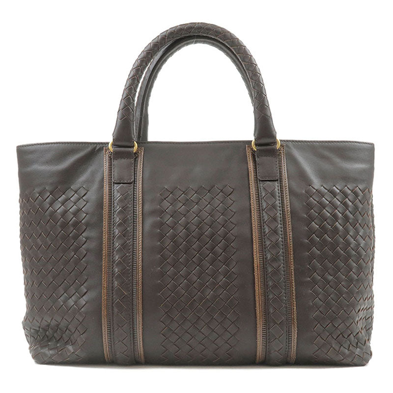 BOTTEGA-VENETA-Intrecciato-Leather-Tote-Bag-Dark-Brown-161761