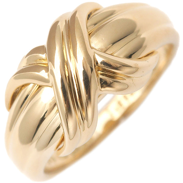 Tiffany&Co. Signature Ring K18 Yellow Gold US5.5 HK12 EU51