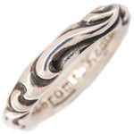 Chrome Hearts Scroll Band Ring Silver 925 US9 HK20 EU60