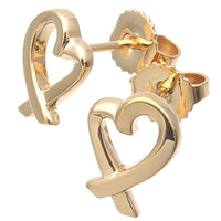 Tiffany&Co. Loving Heart Earrings K18YG 750YG Yellow Gold-dct-ep_vintage luxury Store