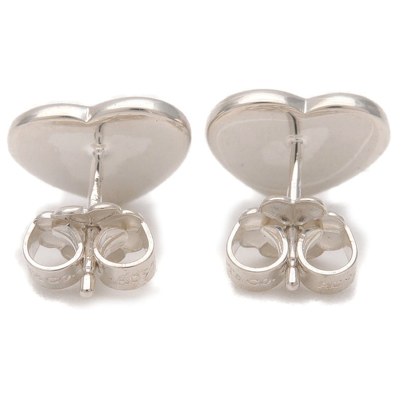 Return To Tiffany Mini Heart Tag Earrings Silver 925-dct-ep_vintage luxury Store