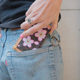 PRADA Nylon Leather Hand Bag Black BN0217