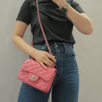 CHANEL Caviar Skin COCO Mark Tote Bag Black Silver A01804-dct-ep_vintage luxury Store