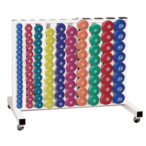 York Barbell | Neoprene Fitbell Club Pack (Multi-Color) w/ Rack - XTC Fitness - Toronto, Canada