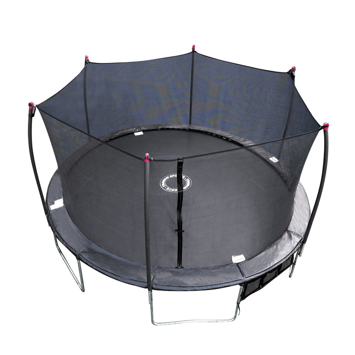 Trainor Sports | Oval Trampoline and Enclosure Combo with Shooter Game - 17'