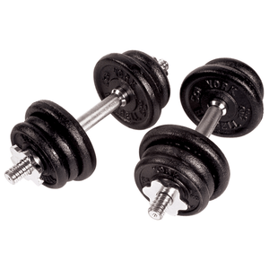York Barbell | Cast Iron Adjustable Dumbbell Set - 30Lb - XTC Fitness
