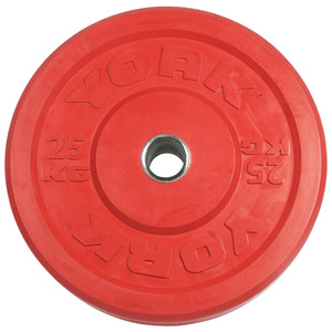 York Barbell | Solid Rubber Training Bumper Plates - Color - Kilos - XTC Fitness - Toronto, Canada