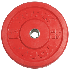 York Barbell | Solid Rubber Training Bumper Plates - Color - Pounds - XTC Fitness - Toronto, Canada