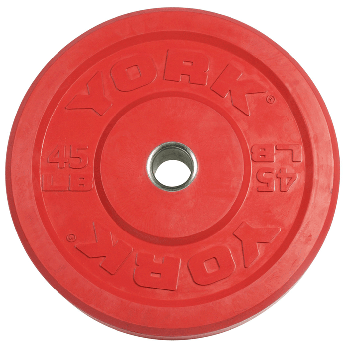 York Barbell | Solid Rubber Training Bumper Plates - Color - Pounds