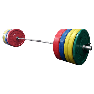 York Barbell | Solid Rubber Training Bumper Plates - Color - Pounds - XTC Fitness