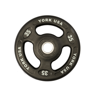 York Barbell | Olympic Plates - ISO-Grip Urethane Encased - XTC Fitness - Toronto, Canada