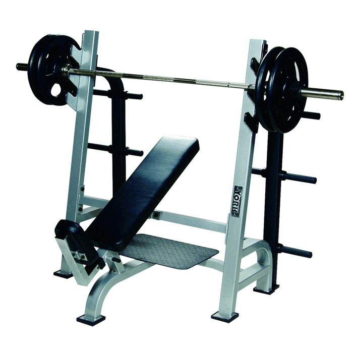 York Barbell | STS Olympic Incline Bench w/ Gun Racks