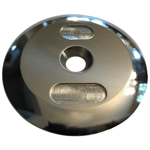 York Barbell | Chromed Steel SDH End Plate - XTC Fitness