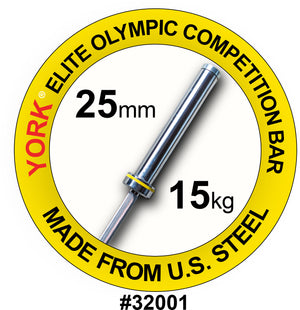 York Barbell | Women's Elite Competition Olympic Bar - 25mm - XTC Fitness