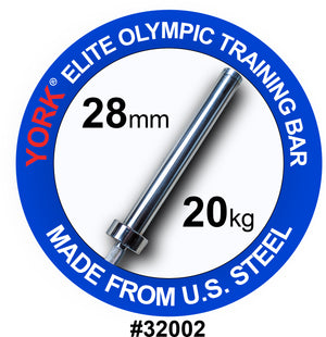 York Barbell | Men's Elite Training Bar - 28mm - XTC Fitness - Toronto, Canada