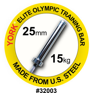 York Barbell | Women's Elite Training Bar - 25mm - XTC Fitness - Toronto, Canada