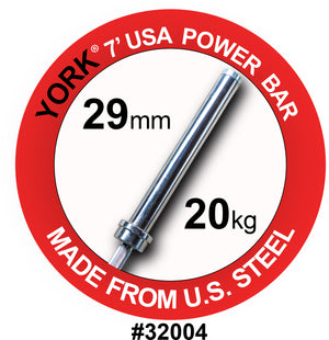 York Barbell | Men's Olympic Elite Power Bar - 29mm - PRE-ORDER - XTC Fitness - Toronto, Canada